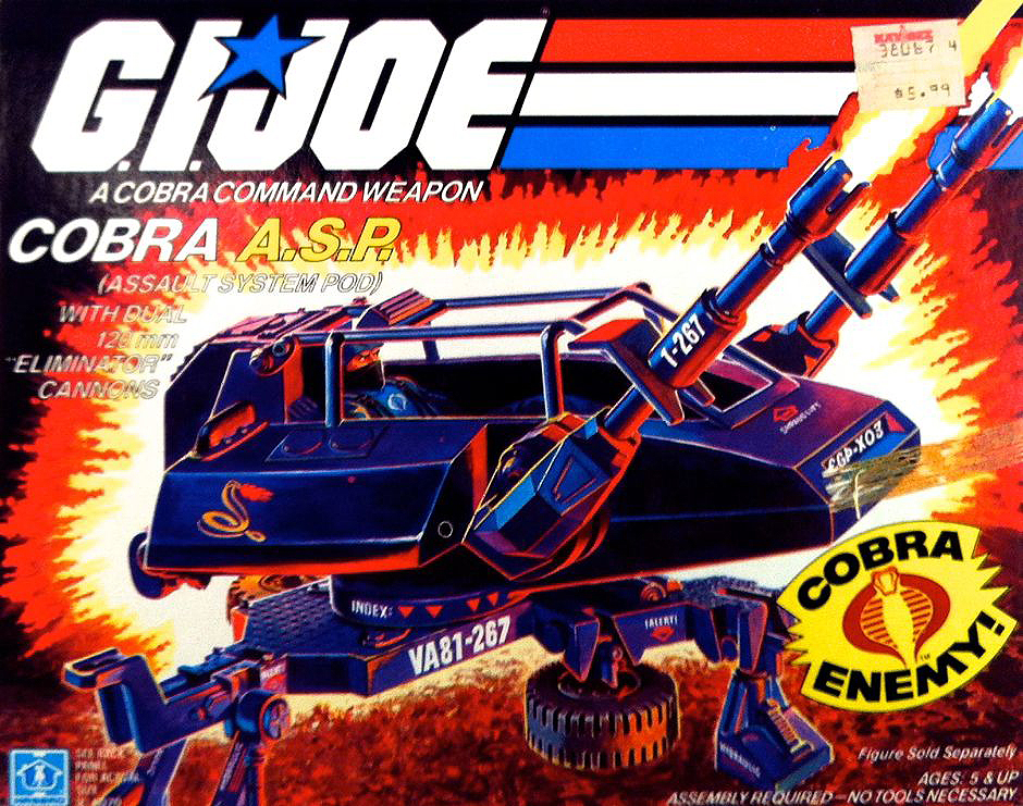 GI Joe Vehicle Cobra ASP Main Body 1984 Original Part
