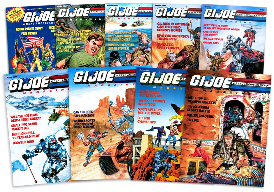 Gi joe canadian micro figure booklet catalog 1988